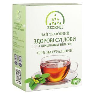 Бескид, Здоровые суставы, 100 г, Чай травяной, с шишками ольхи