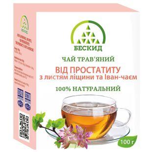 Beskid, 100 g, Herbal tea, From prostatitis, With hazel leaves and Ivan tea