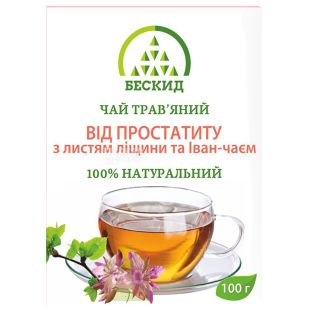 Бескид, От простатита, 100 г, Чай травяной, с листьями орешника и иван-чаем