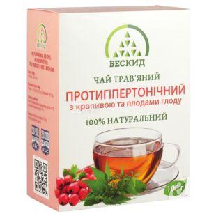 Бескид, Протигіпертонічний, 100 г, Чай трав'яний, з кропивою і плодами глоду