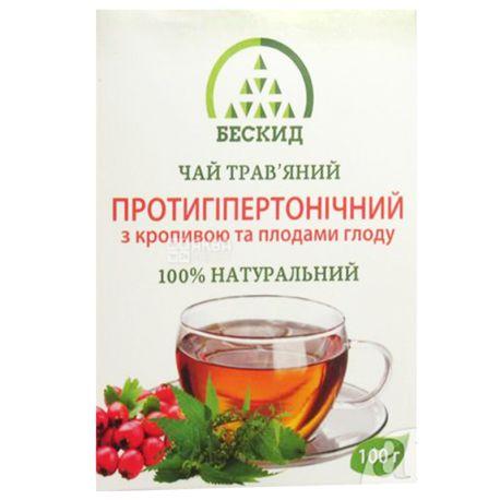 Бескид, Противогипертонический, 100 г, Чай травяной, с крапивой и боярышником