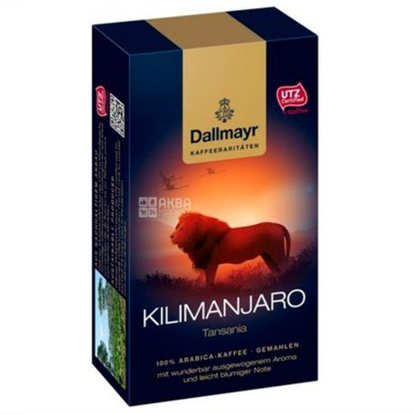 Dallmayr Kilimanjaro, 250 г, Кофе молотый Далмайер Килиманджаро