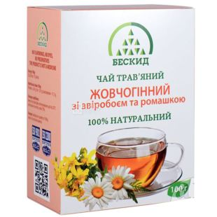 Beskid, 100 g, Herbal tea, Choleretic, With hypericum and chamomile