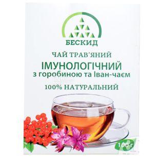 Бескид, Иммунологический, 100 г, Чай травяной, с рябиной и иван-чаем