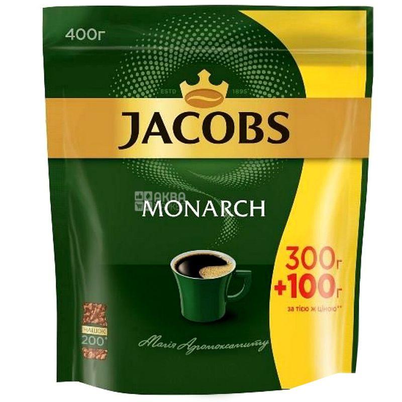 Jacobs Monarch,  Кофе растворимый, 300+100 г