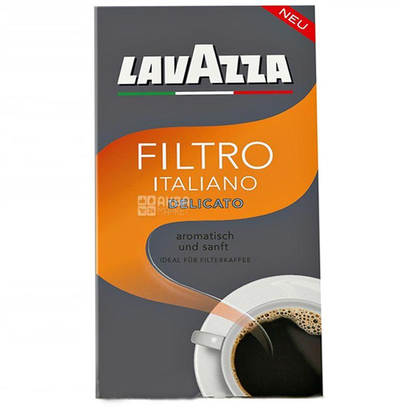 Lavazza, Filtro Italiano Delicato, 500 г, Кофе Лавацца, Филтро Итальяно Деликато, средней обжарки, молотый