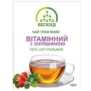 Бескид, Вітамінний, 100 г, Чай трав'яний, з шипшиною