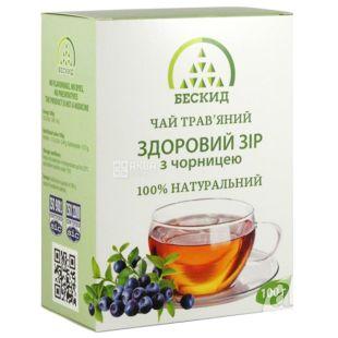 Бескид, Здоровое зрение, 100 г, Чай травяной, с черникой