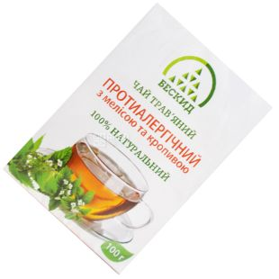 Beskid, 100 g, Herbal Tea, Antiallergic, With Melissa and Nettle