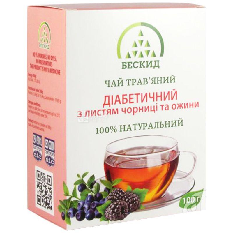 Бескид, 100 г, Чай травяной, Диабетический, С черникой и ежевикой