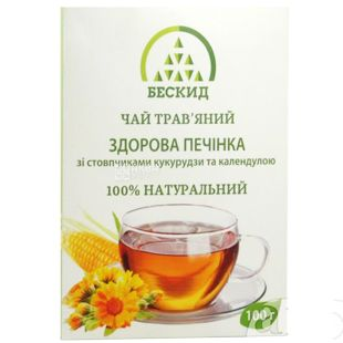 Beskid, 100 g, Herbal tea, Healthy Liver, With corn stigmas and calendula