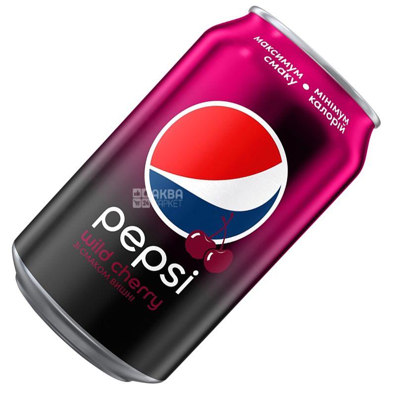 Pepsi-Cola, Wild Cherry, 0,33 л, Пепси-Кола, Вайлд Черри, Дикая Вишня, Вода сладкая, ж/б