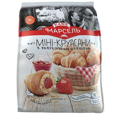 Кафе Марсель, 180 г, Мини-круассаны, Клубника