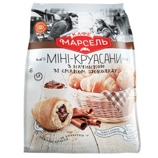 Кафе Марсель, 180 г, Мини-круассаны, Шоколад