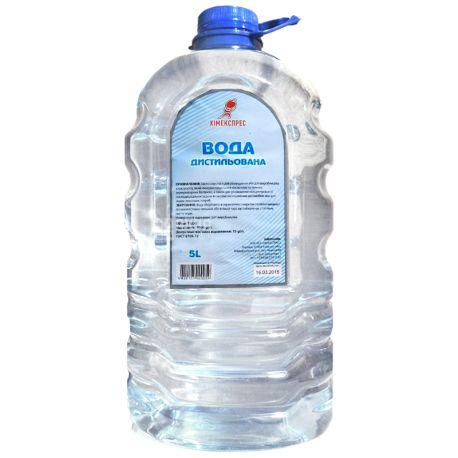 Дистиллированная вода, 5л Химэкспресс, ПЭТ