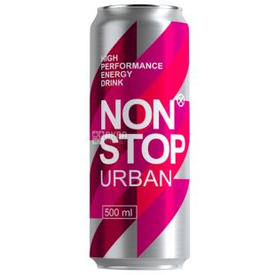 Non Stop, 0,5 л, Энергетический напиток, Urban, Железная банка
