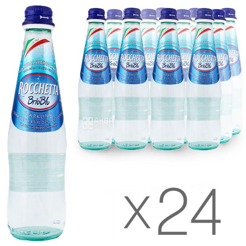Rocchetta Brio Blu, 0,5 л, Упаковка 24 шт., Рочетта Брио Блю, Вода минеральная газированная, стекло