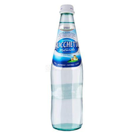 Rocchetta Naturale, 0,5 л, Упаковка 24 шт., Рочетта Натурале, Вода минеральная негазированная, стекло
