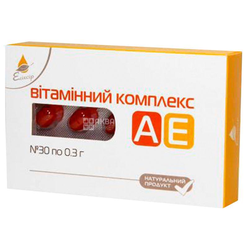 Ekosvit Oil Vitamin AE complex, 30 cap. 0.3 g, for the prevention of viral diseases