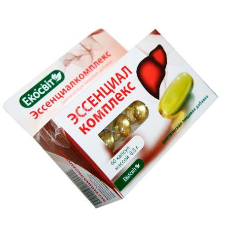 Екосвіт Ойл Ессеніалкомплекс , 60 кап. по 0,5 г, Для здоров'я вашої печінки
