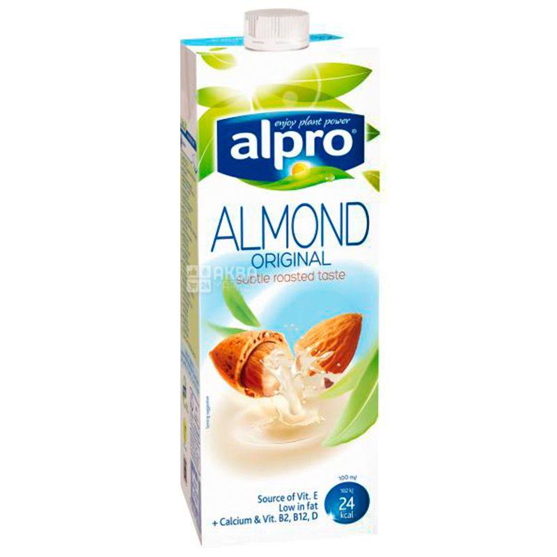 Alpro, Almond Original, 1 л, Алпро, Миндальное молоко, оригинальное, витаминизированное