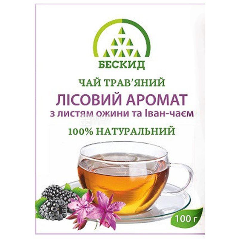 Бескид, Лісовий аромат, 100 г, Чай трав'яний, з ожиною та іван-чаєм