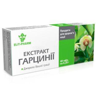 ELIT-PHARM Экстракт гарцинии, 40 таб. по 0,25 г, Для ускорения обмена веществ