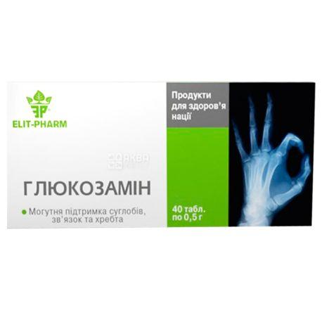 ELIT-PHARM Глюкозамин, 40 таб. по 0,5 г, Для суставов