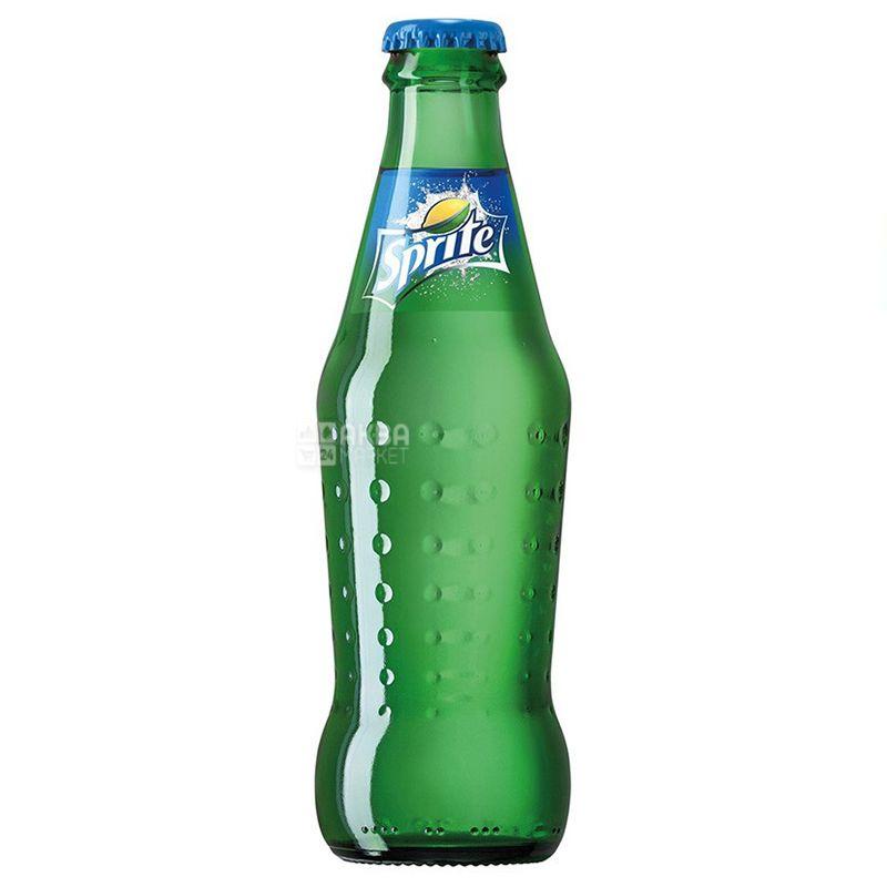 Sprite, Упаковка 12 шт. по 0,25 л, Спрайт, Вода сладкая, со вкусом лайма и лимона, стекло