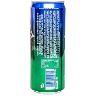 Sprite, Упаковка 12 шт. по 0,33 л, Спрайт, Вода сладкая, со вкусом лайма и лимона, ж/б