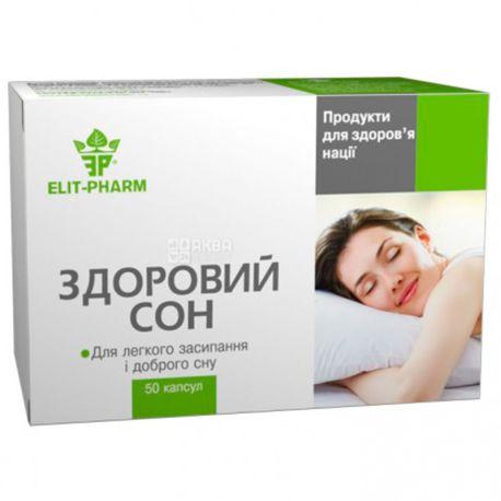 ELIT-PHARM Здоровый сон, 50 капсул, Способствует избавлению от бессонницы