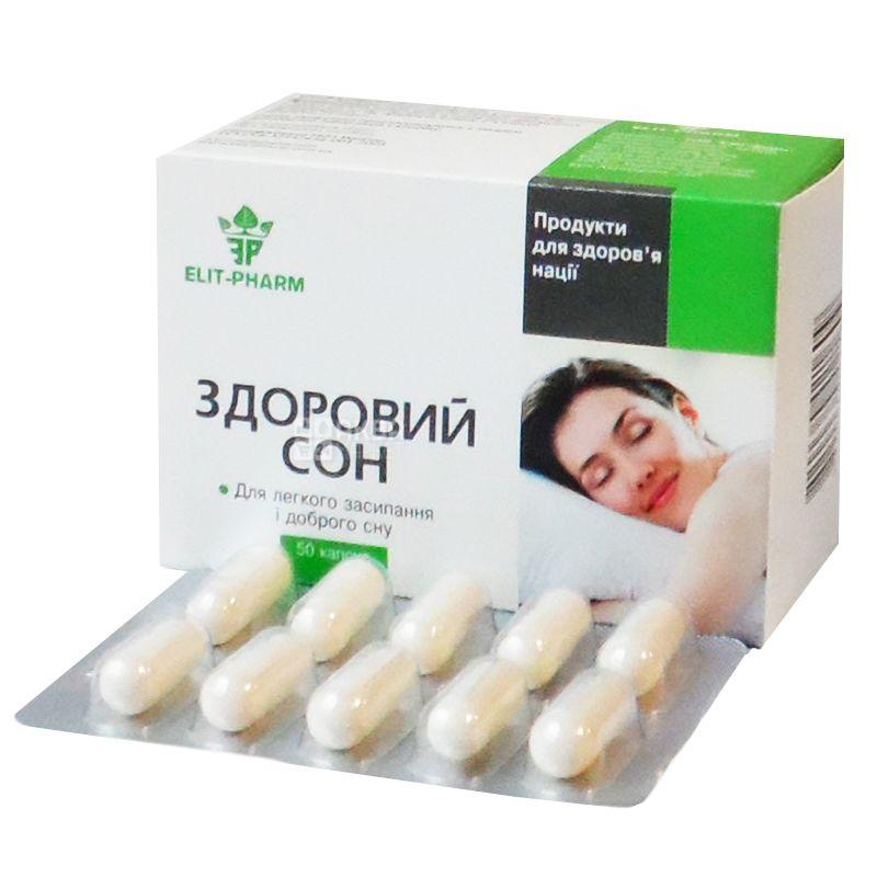 ELIT-PHARM Здоровий сон, 50 капсул, Сприяє позбавленню від безсоння