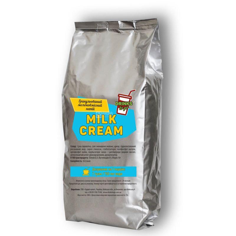 Drinks To Go, 0,5 кг, Гранулированное молоко, Для кофейных машин и автоматов