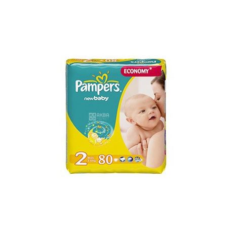Pampers 2 / 80 шт. 3-6 кг New Baby