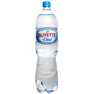 Buvette Vital, 1,5л, Вода негазована, ПЕТ