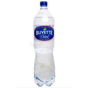 Buvette Vital, 1,5л, Вода слабогазована, ПЕТ