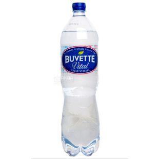 Buvette Vital, Вода минеральная слабогазированная, 1,5 л, ПЭТ