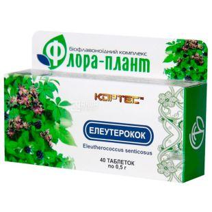 Флора-плант Елеутерокок, 40 піг. по 0,5 г, Для зняття стресу
