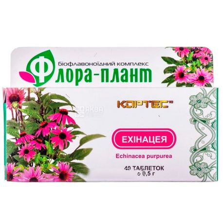 Флора-плант Эхинацея, 40 таб. по 0,5 г, Для улучшения иммунитета