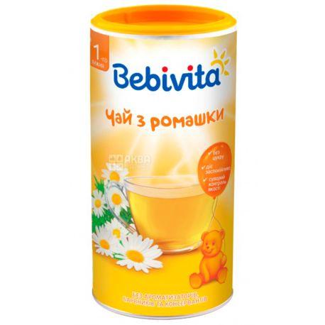 Bebivita, Чай детский с ромашки, 200 г, тубус