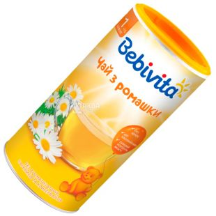 Bebivita, Ромашка, 200 г, Чай дитячий з ромашки, тубус