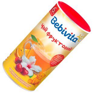 Bebivita, Фруктовый, 200 г, Чай Бебивита, детский с витамином С, тубус