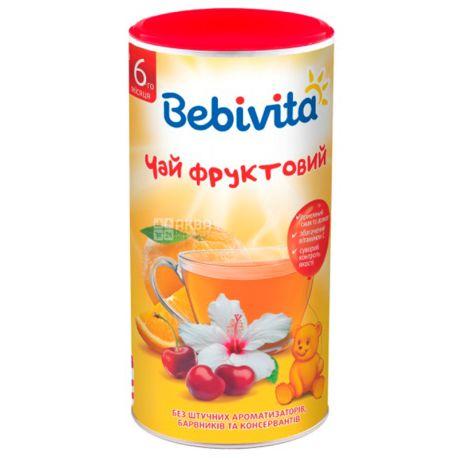 Bebivita, Фруктовий, 200 г, Чай Бебівіта, дитячий з вітаміном С, тубус