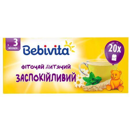 Bebivita, Успокоительный, 20 пак., Чай Бебивита, детский с травами