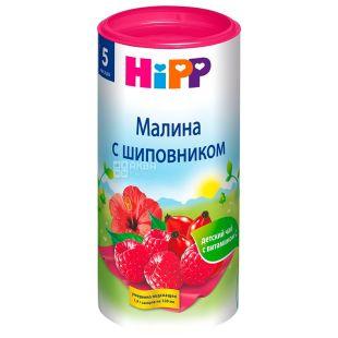 HiPP, Малина с шиповником, 200 г, Чай Хипп, детский, фруктовый, тубус