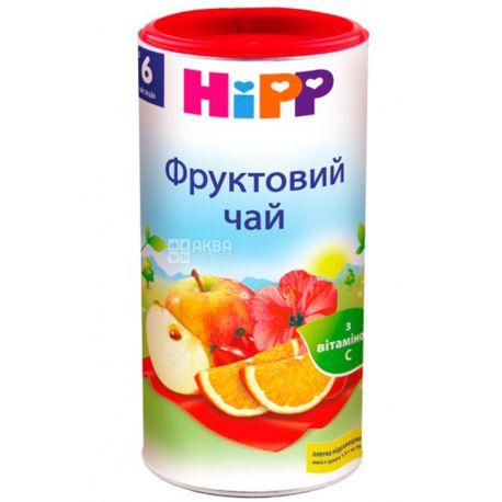HiPP, Фруктовый, 200 г, Чай Хипп, детский, для иммунитета, тубус