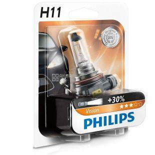 Philips, 1 шт, Лампа галогенна, H11 Vision, 3200K