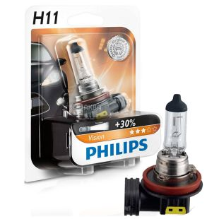Philips, 1 pc, Halogen Lamp, H11 Vision, 3200K