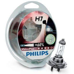 Philips, 2 шт., Галогенная лампа, VisionPlus H7, Блистер