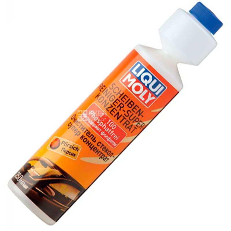 Liqui Moly Peach, 250 ml, Concentrate 1: 100, Glass cleaner, Scheiben-Reiniger, Super Konzentrat, PET